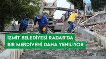İzmit Belediyesi Radar'da bir merdiveni daha yeniliyor